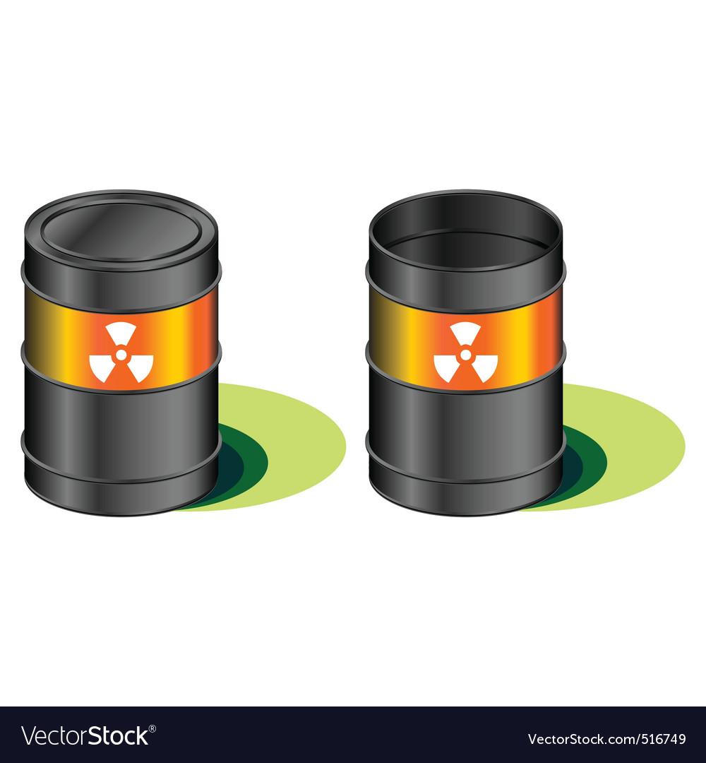Radioactive waste barrels vector | Price: 1 Credit (USD $1)