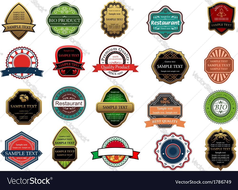 Retail banners and labels set vector | Price: 1 Credit (USD $1)