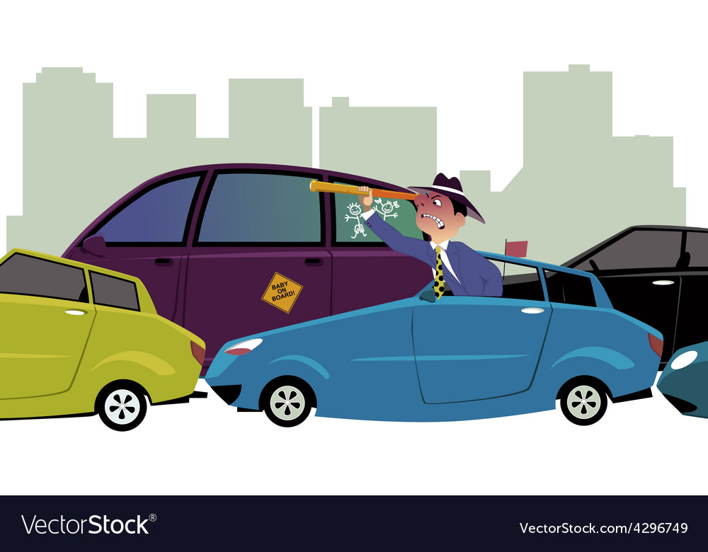 Stuck in traffic vector | Price: 1 Credit (USD $1)