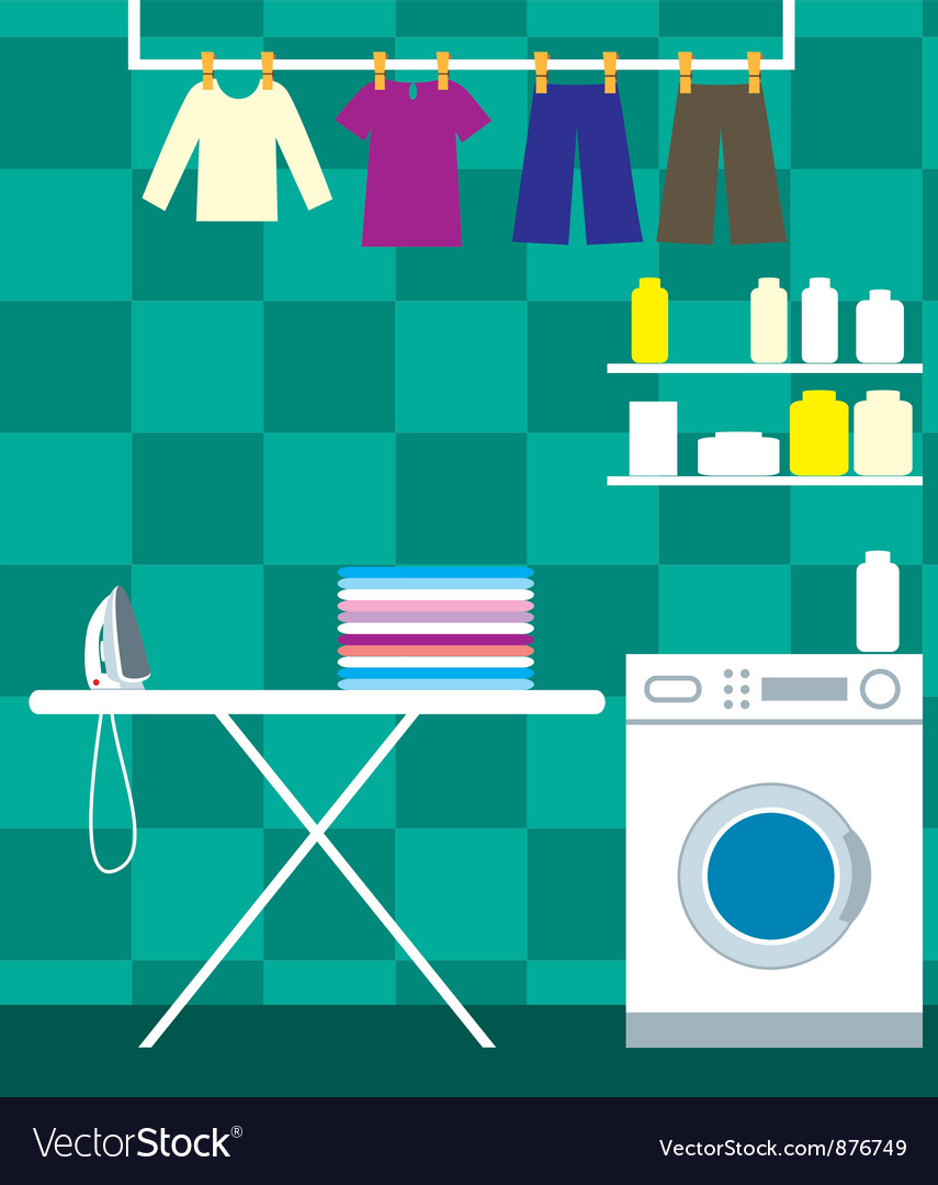 Washing room vector | Price: 3 Credit (USD $3)