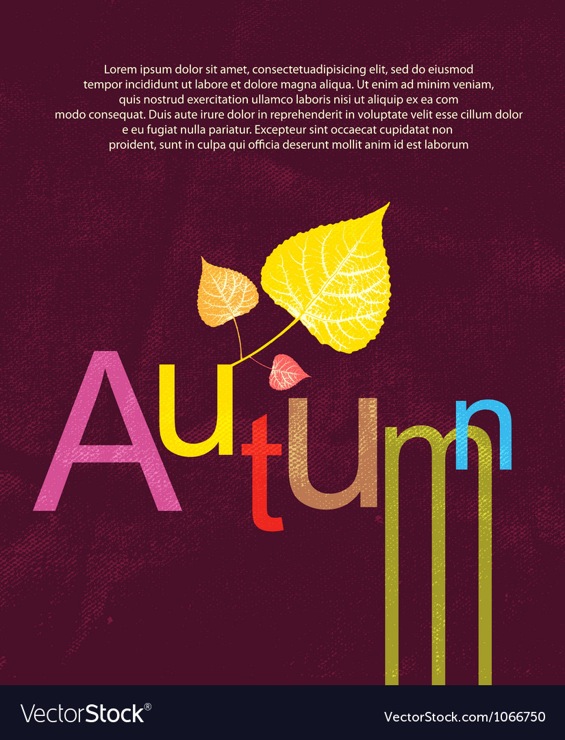 Autumn print background vector | Price: 1 Credit (USD $1)