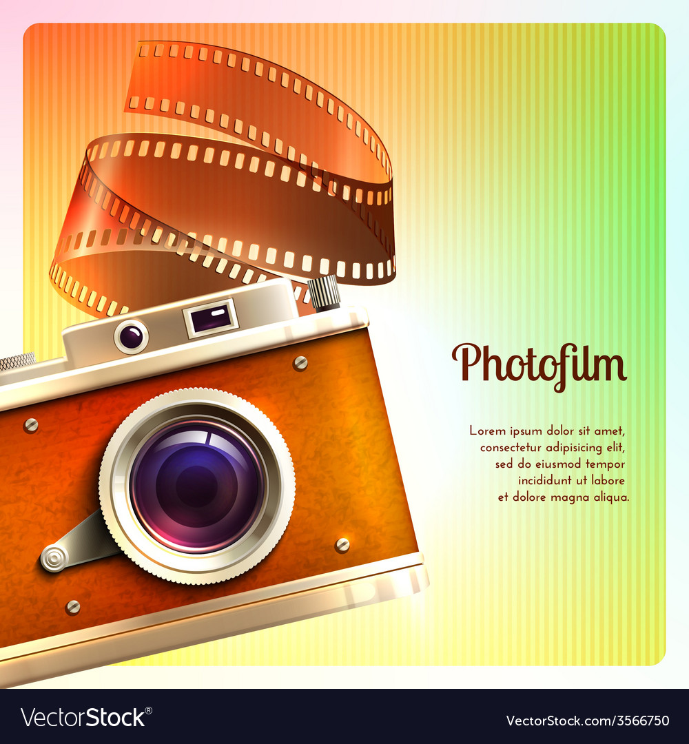 Retro camera background vector | Price: 5 Credit (USD $5)