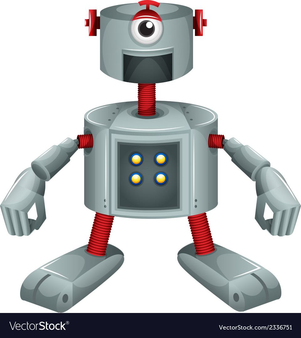 A grey robot vector | Price: 1 Credit (USD $1)