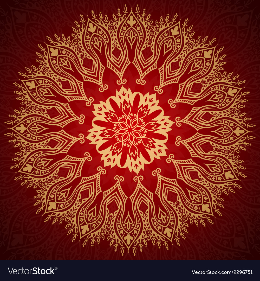 Burgundy pattern with gold lace ornament vector | Price: 1 Credit (USD $1)
