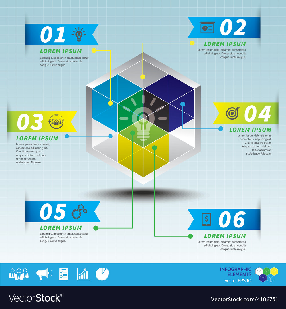 Cube business infographic template vector | Price: 3 Credit (USD $3)