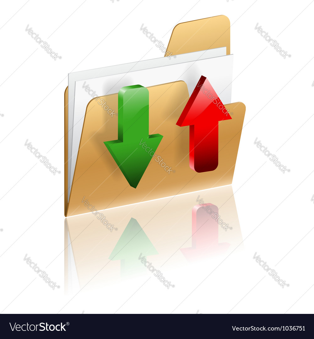 Download and upload folder icon vector | Price: 1 Credit (USD $1)