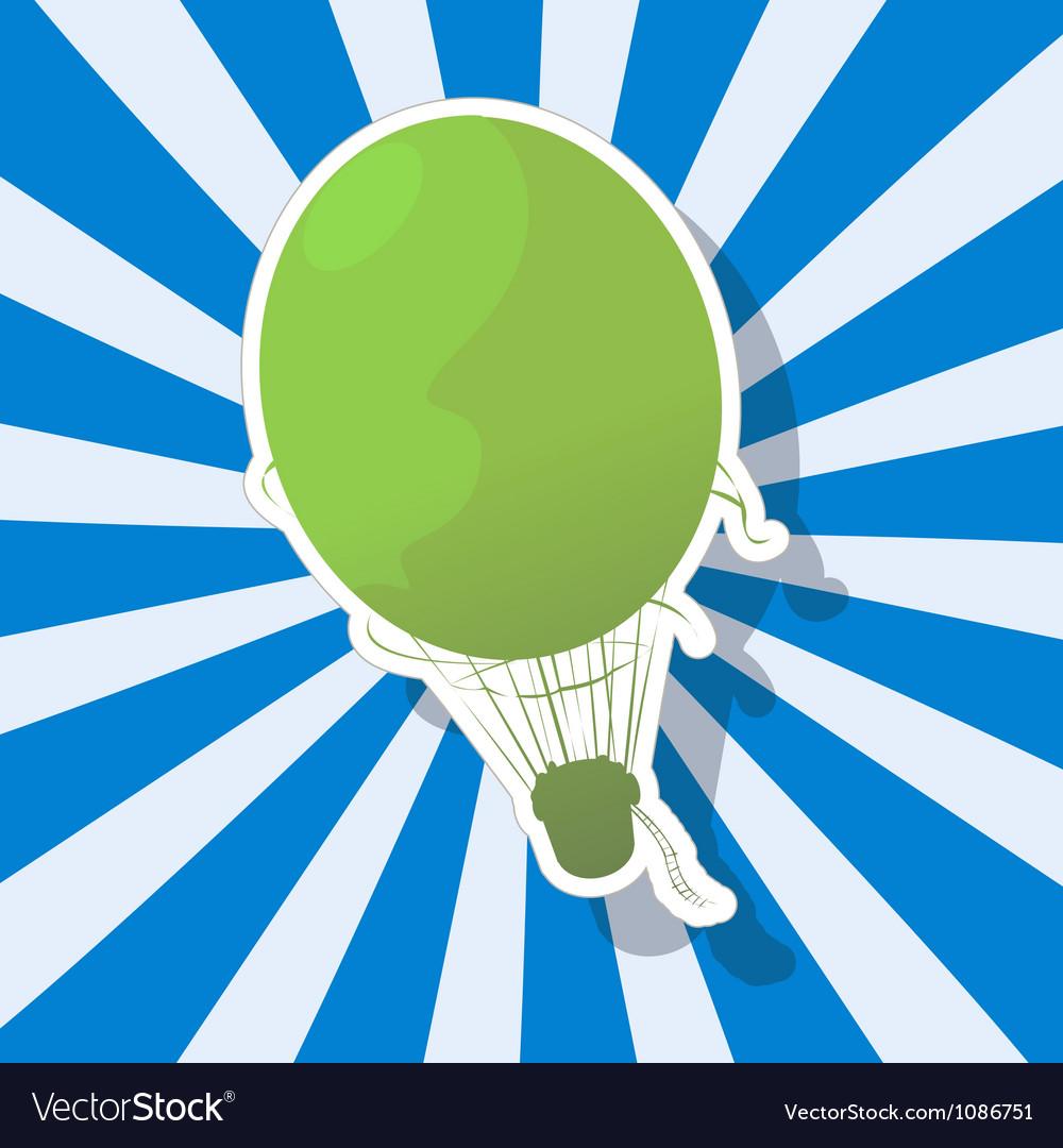 The fantastic hot air balloon vector | Price: 1 Credit (USD $1)