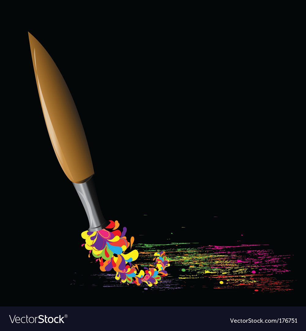 Paint brush vector | Price: 1 Credit (USD $1)