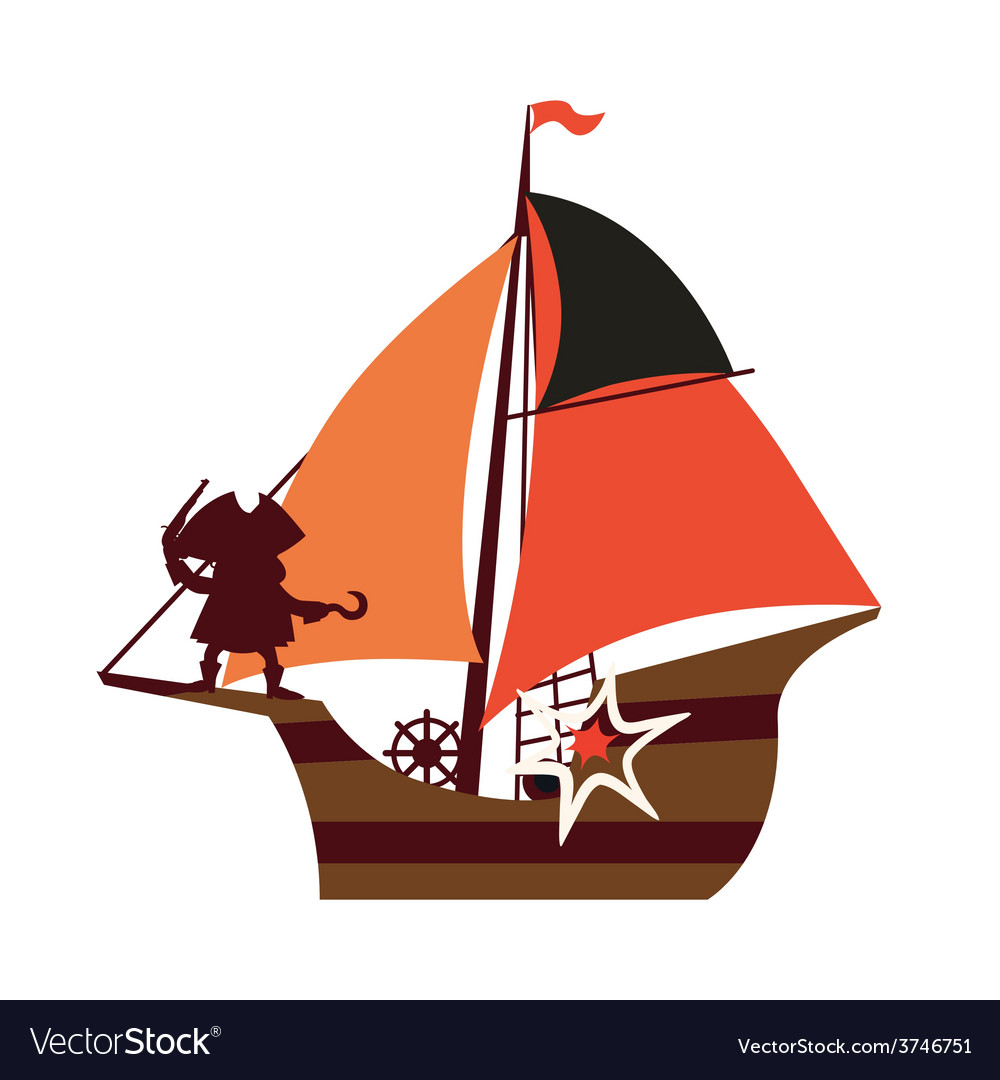 Pirate ship vector | Price: 1 Credit (USD $1)
