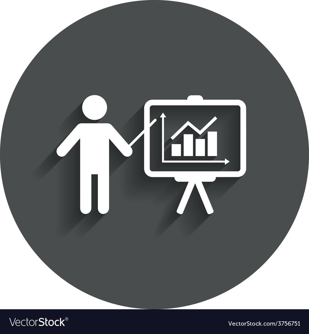 Presentation billboard sign icon diagram symbol vector   Price: 1 Credit (USD $1)