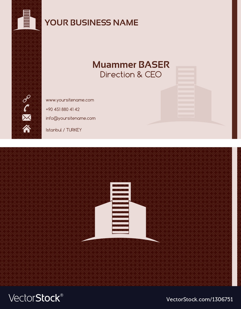 Real estate business card front and back vector | Price: 1 Credit (USD $1)