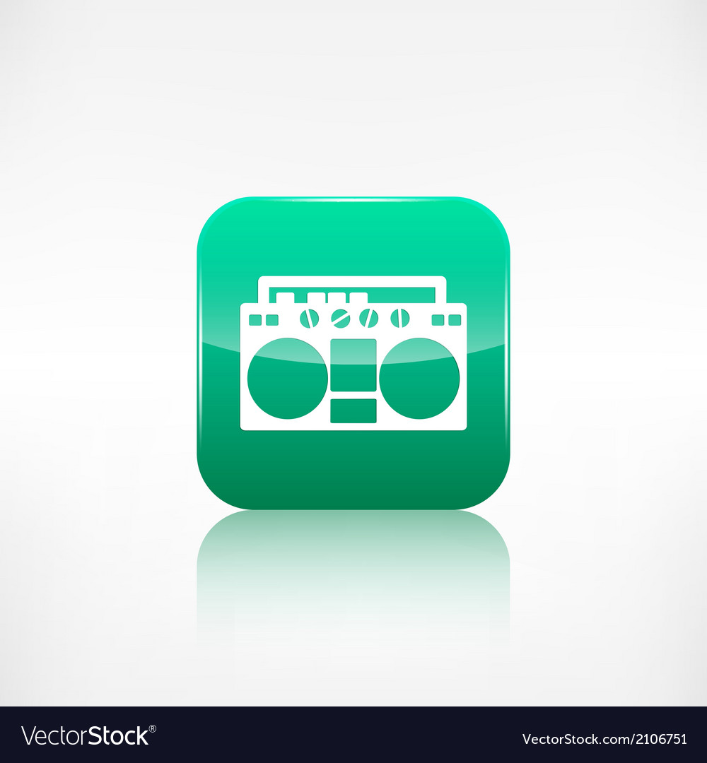Retro tape recorderapplication button vector | Price: 1 Credit (USD $1)