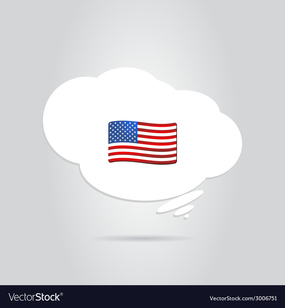 United states flag in the cloud vector | Price: 1 Credit (USD $1)