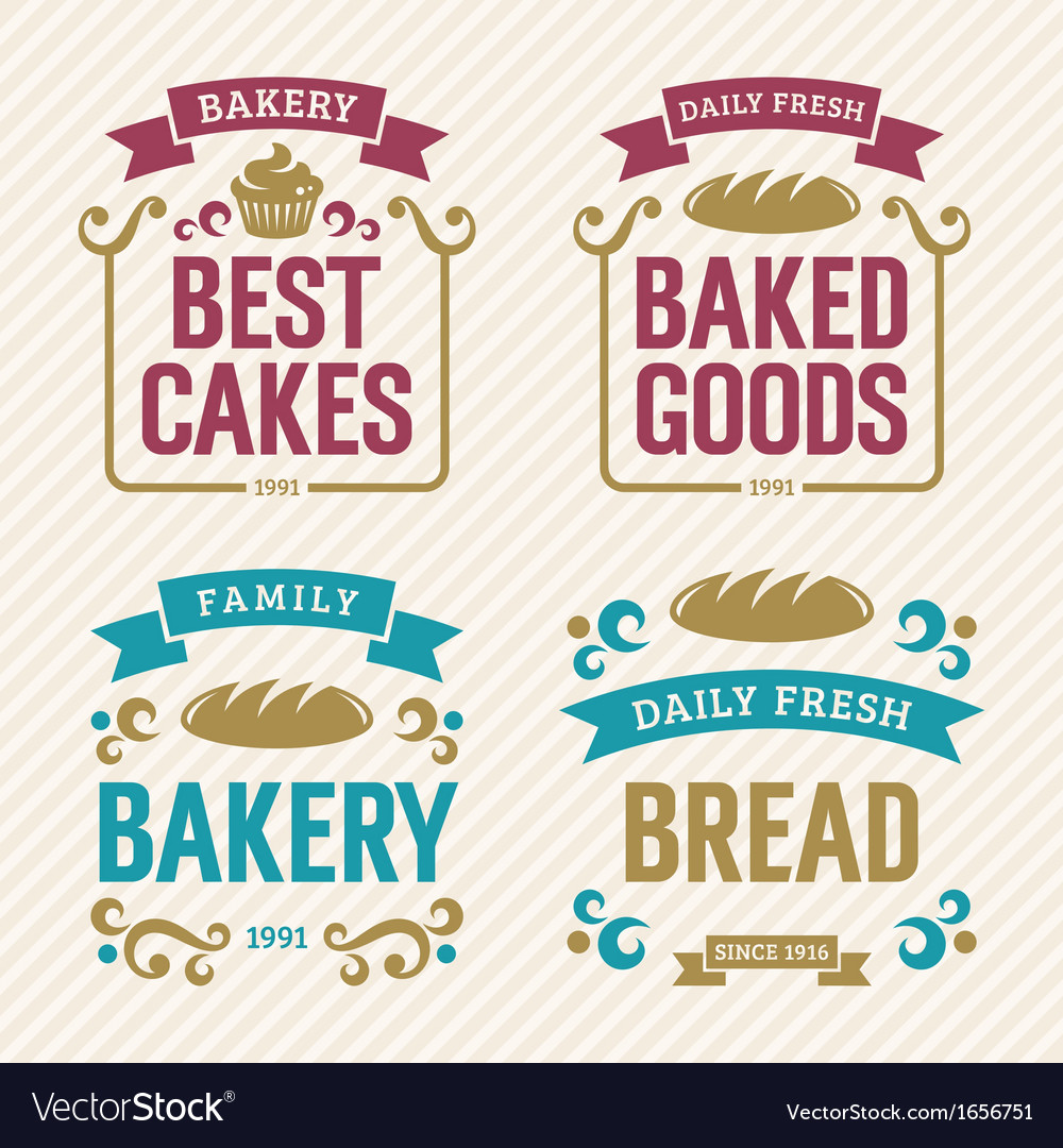 Vintage bakery labels vector | Price: 1 Credit (USD $1)