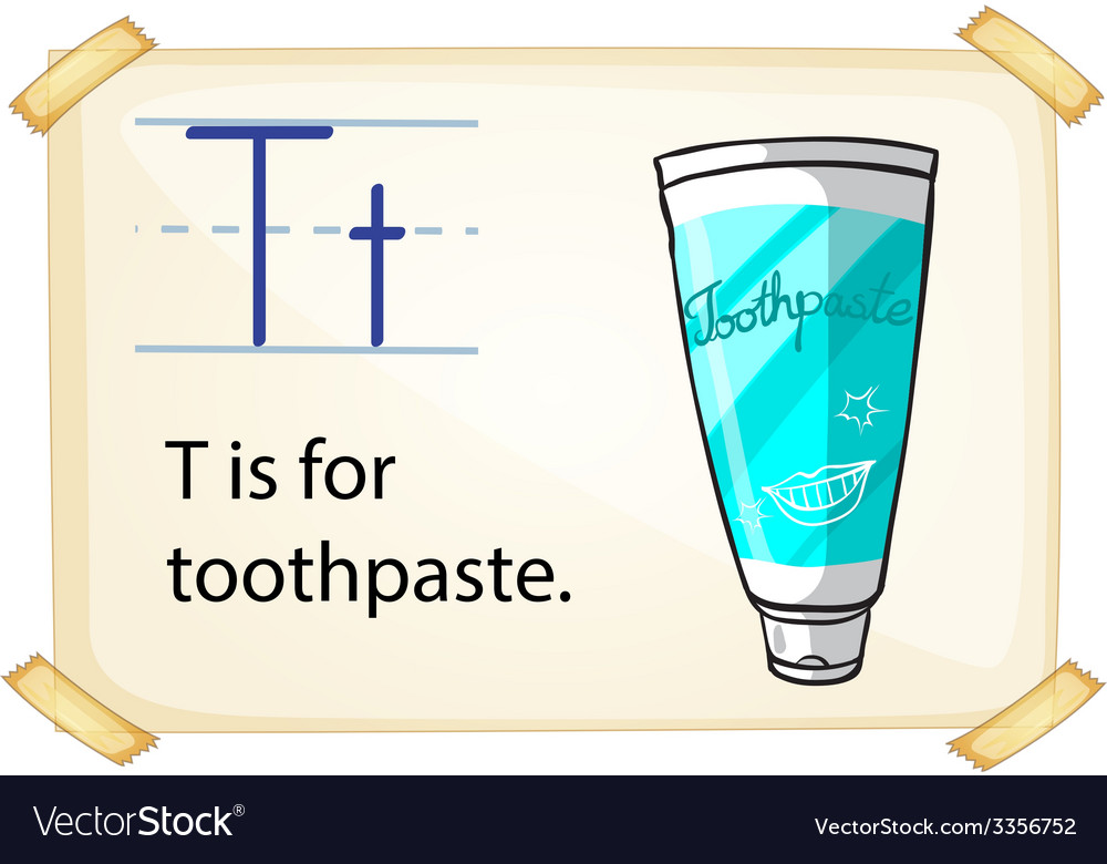 A letter t for toothpaste vector | Price: 3 Credit (USD $3)