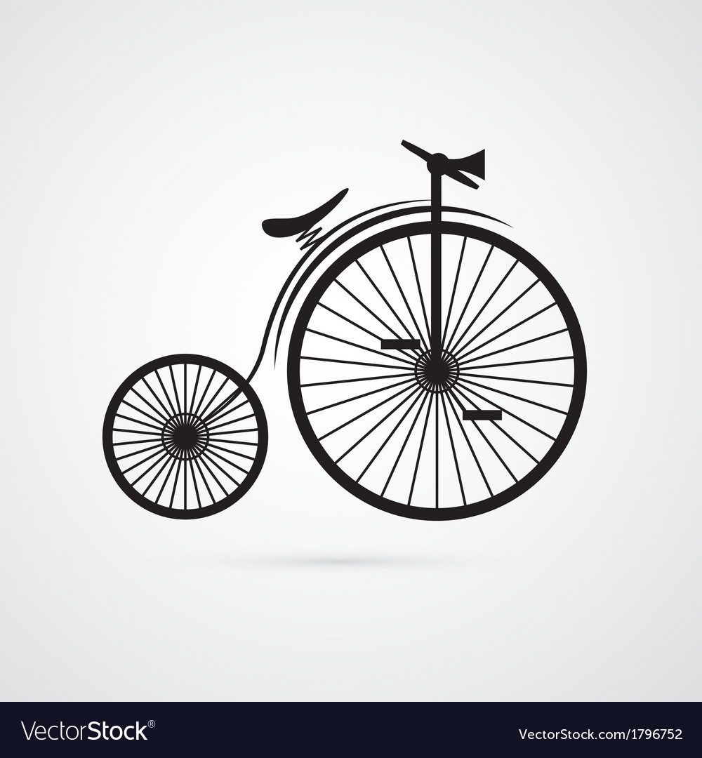 Abstract old vintage bicycle bike isolated on vector | Price: 1 Credit (USD $1)