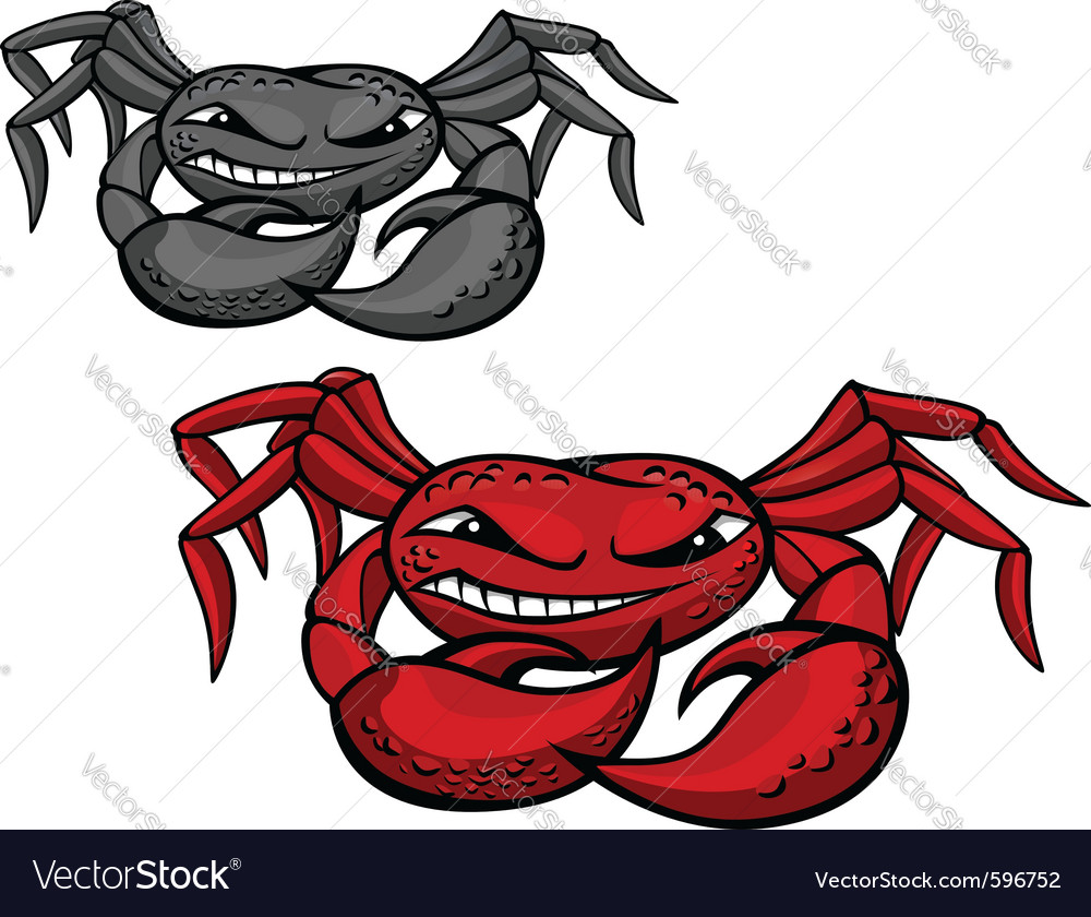 Angry crab vector | Price: 3 Credit (USD $3)