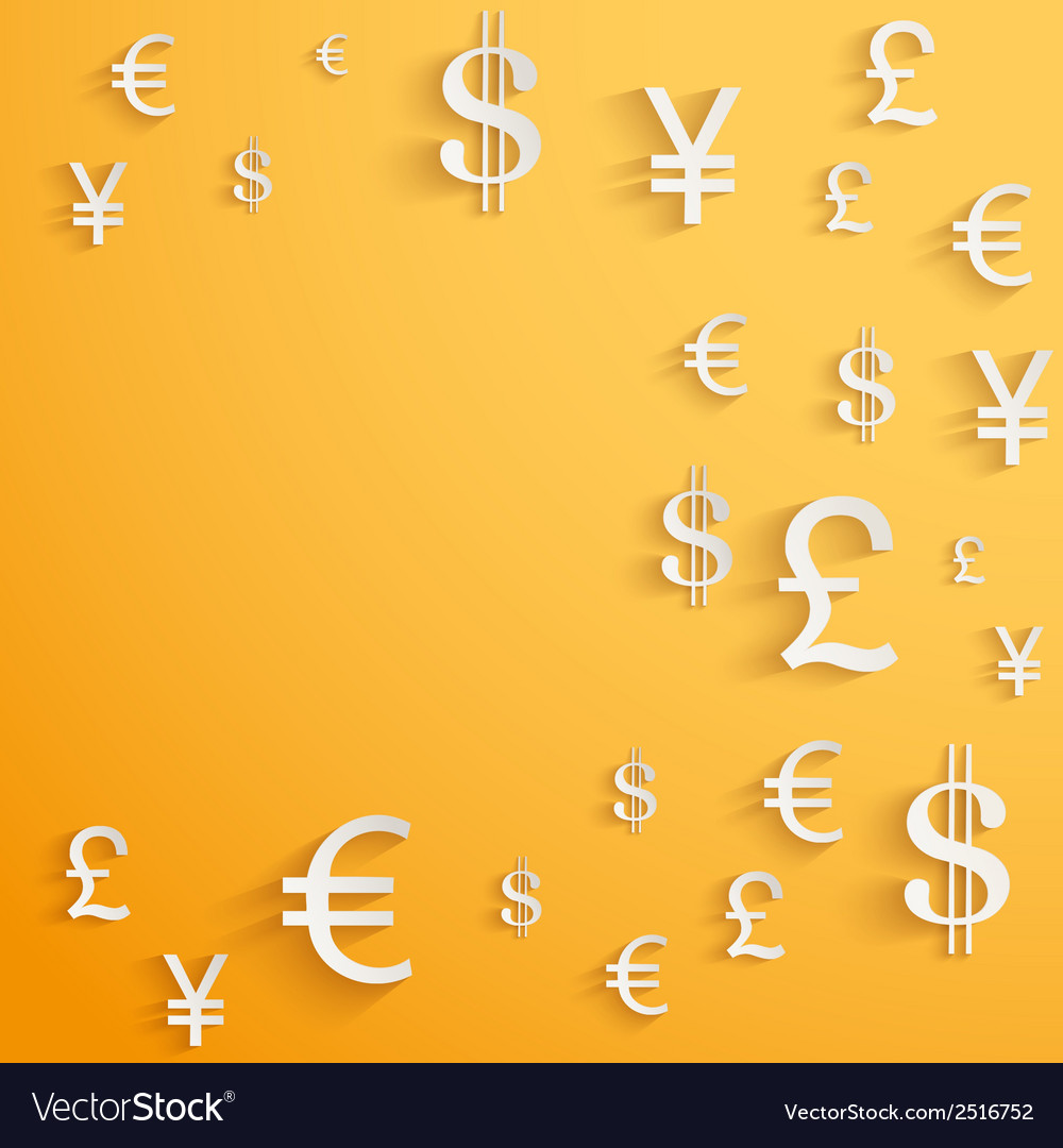 Business background with money currency symbols vector | Price: 1 Credit (USD $1)