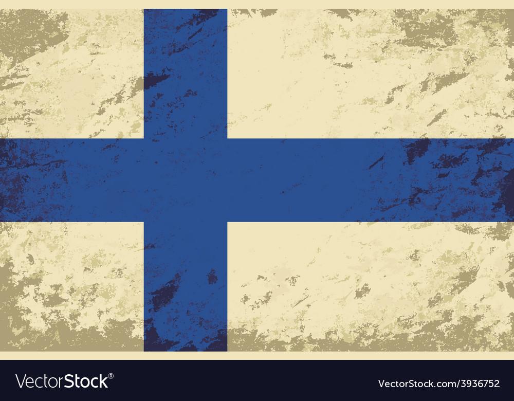 Finnish flag grunge background vector | Price: 1 Credit (USD $1)