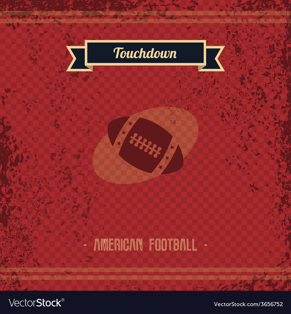Football retro page vector | Price: 1 Credit (USD $1)