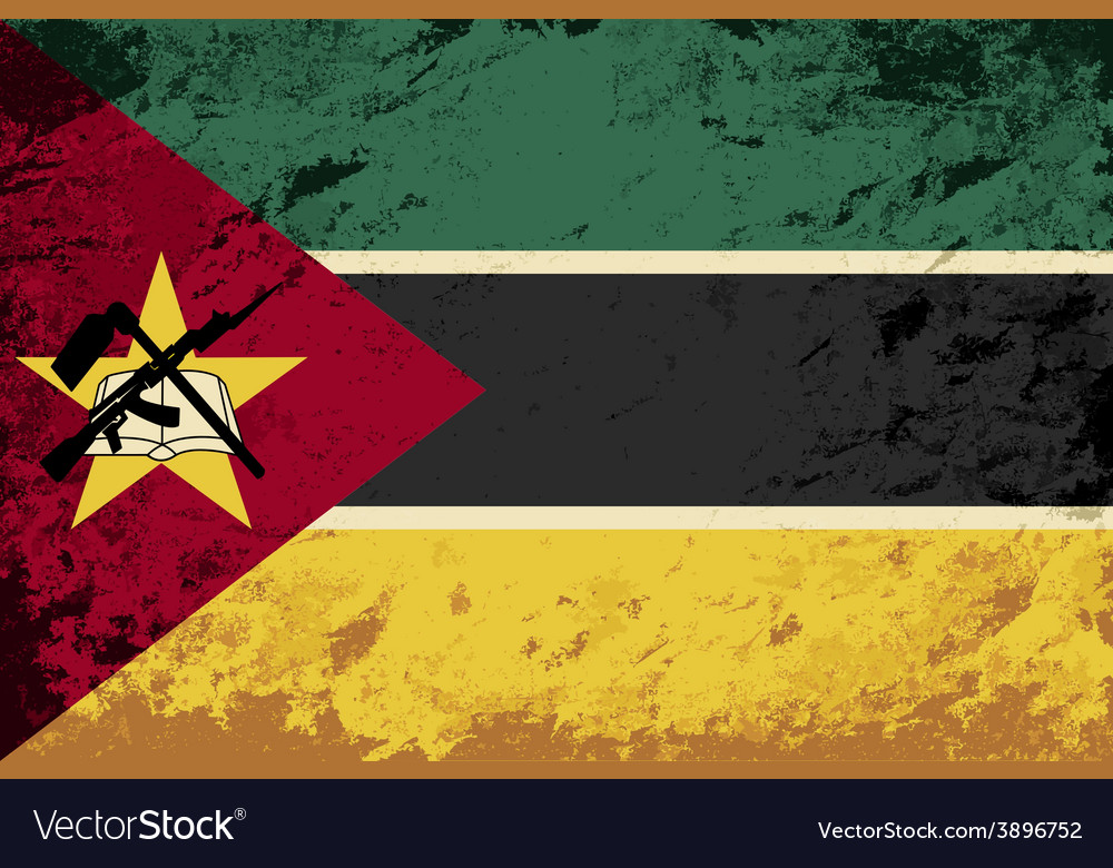 Mozambique flag grunge background vector | Price: 1 Credit (USD $1)