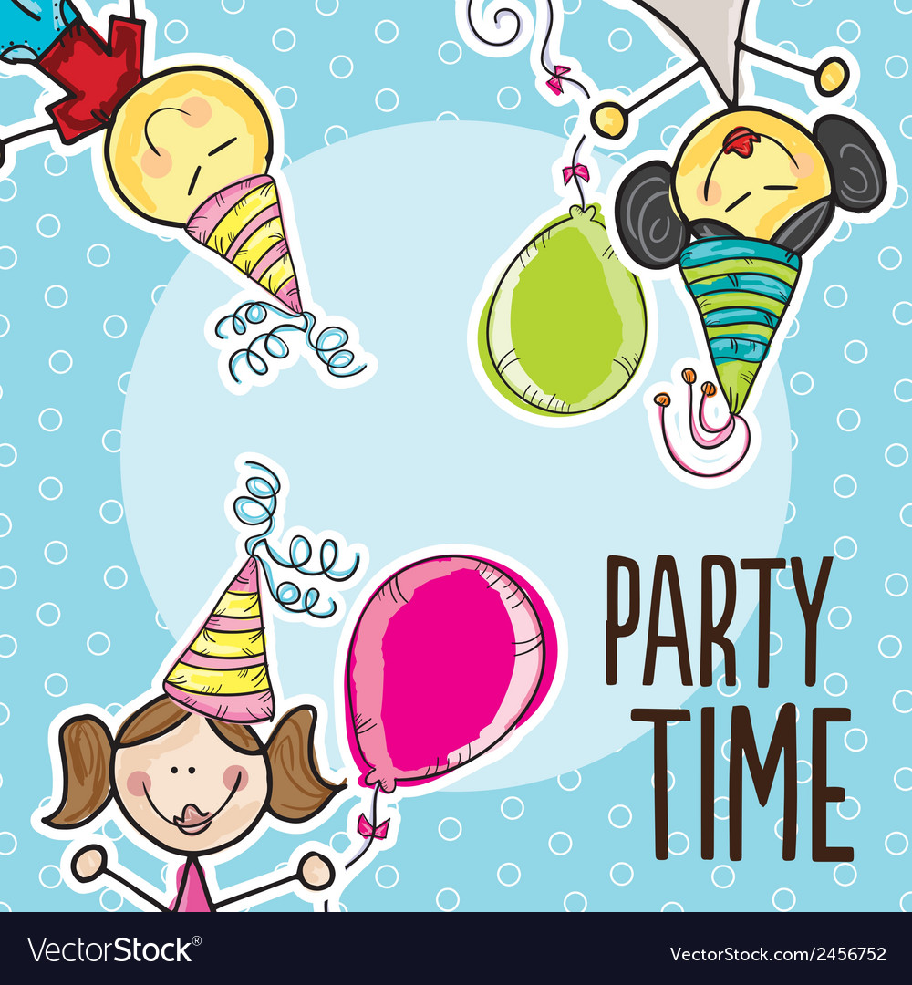 Party time icons vector | Price: 1 Credit (USD $1)