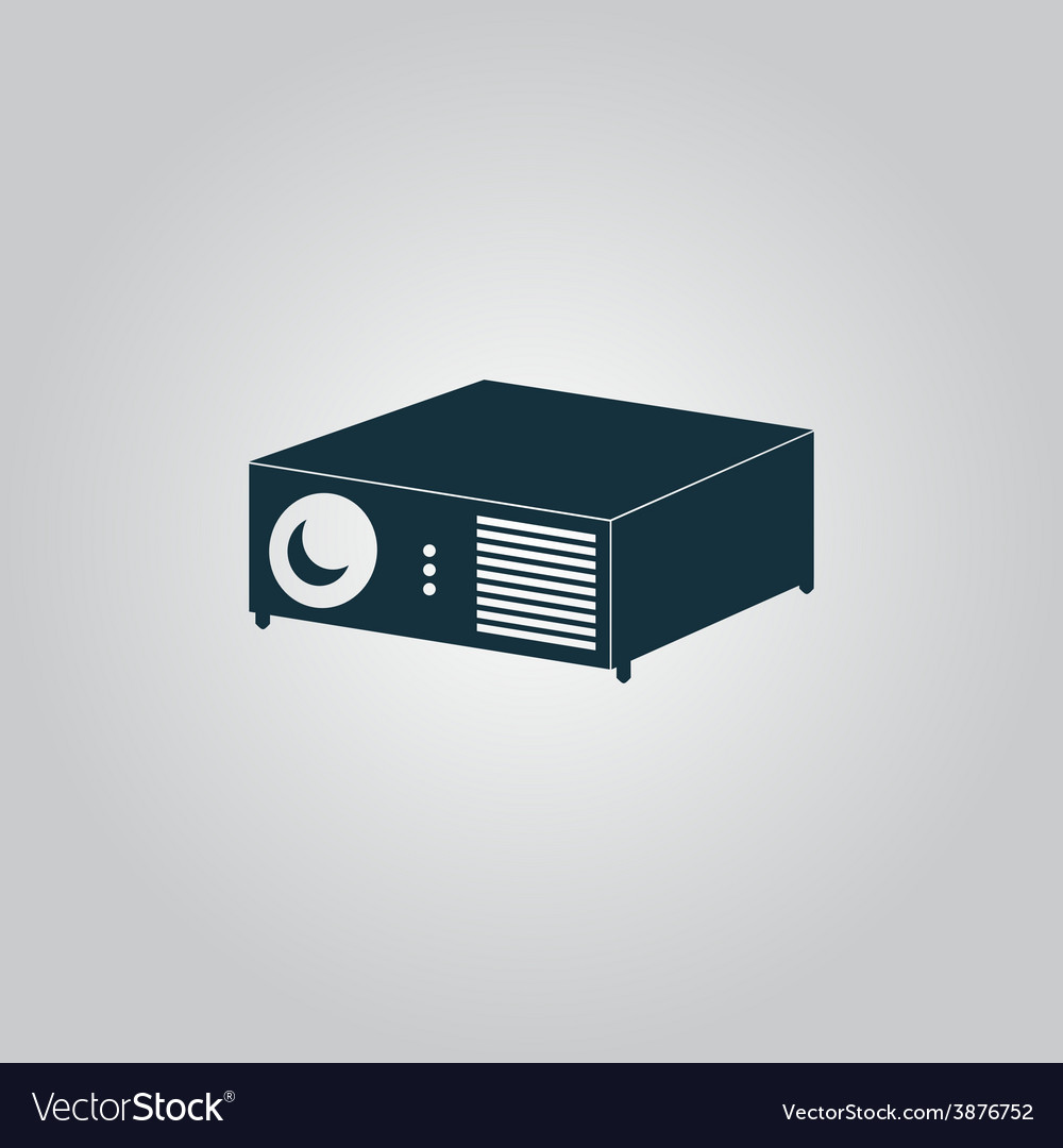 Projector sign icon vector | Price: 1 Credit (USD $1)