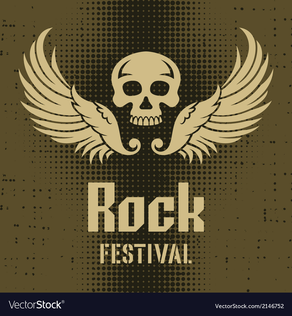 Rock festival poster vector | Price: 1 Credit (USD $1)
