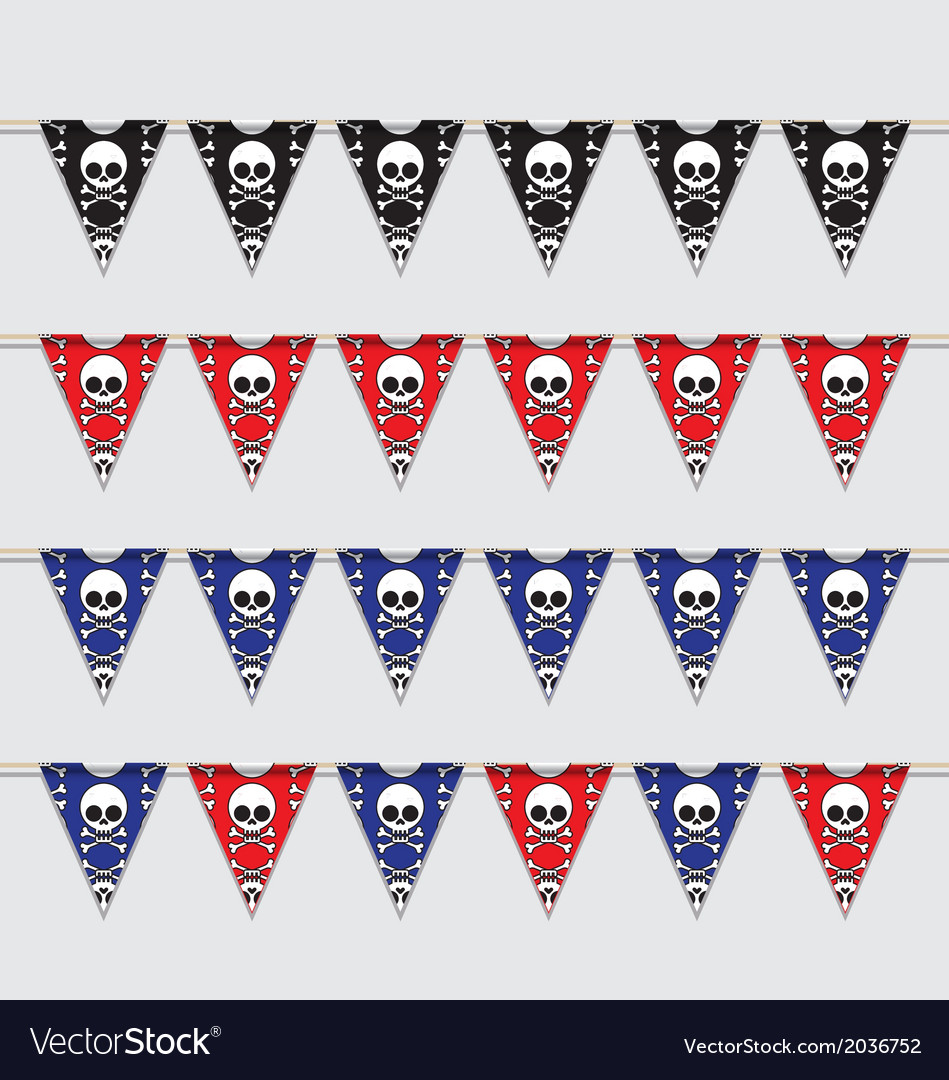 Skeleton bunting vector | Price: 1 Credit (USD $1)