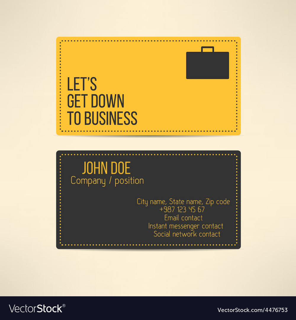 Business card template made in yellow and gray vector | Price: 1 Credit (USD $1)