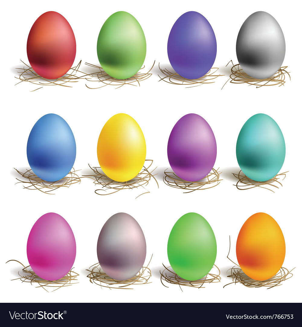 Color easter eggs vector | Price: 1 Credit (USD $1)
