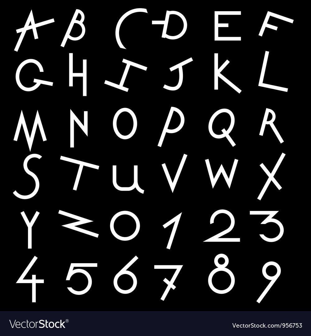 Decorative alphabet set vector | Price: 1 Credit (USD $1)