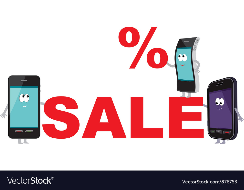 Discount for smartphones sale vector | Price: 1 Credit (USD $1)