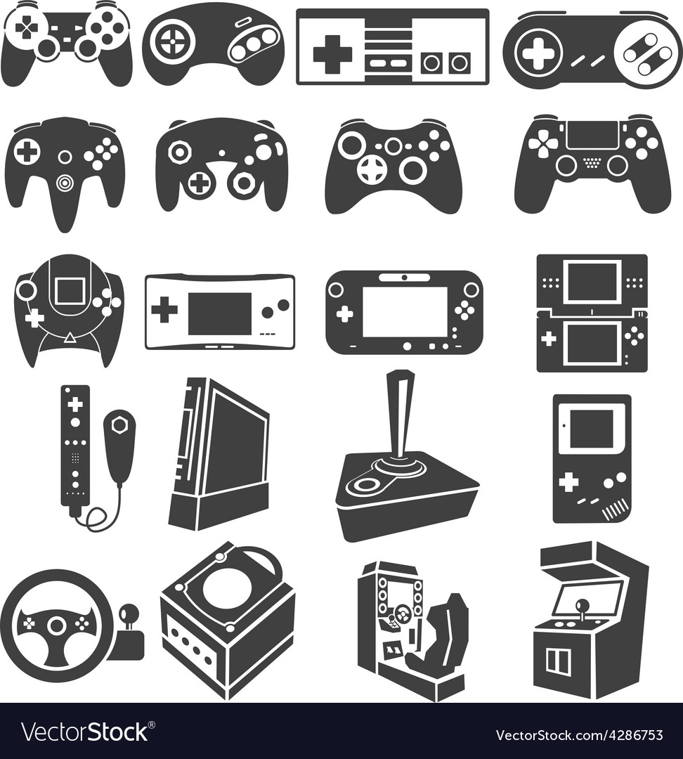 Gaming icon set vector | Price: 1 Credit (USD $1)
