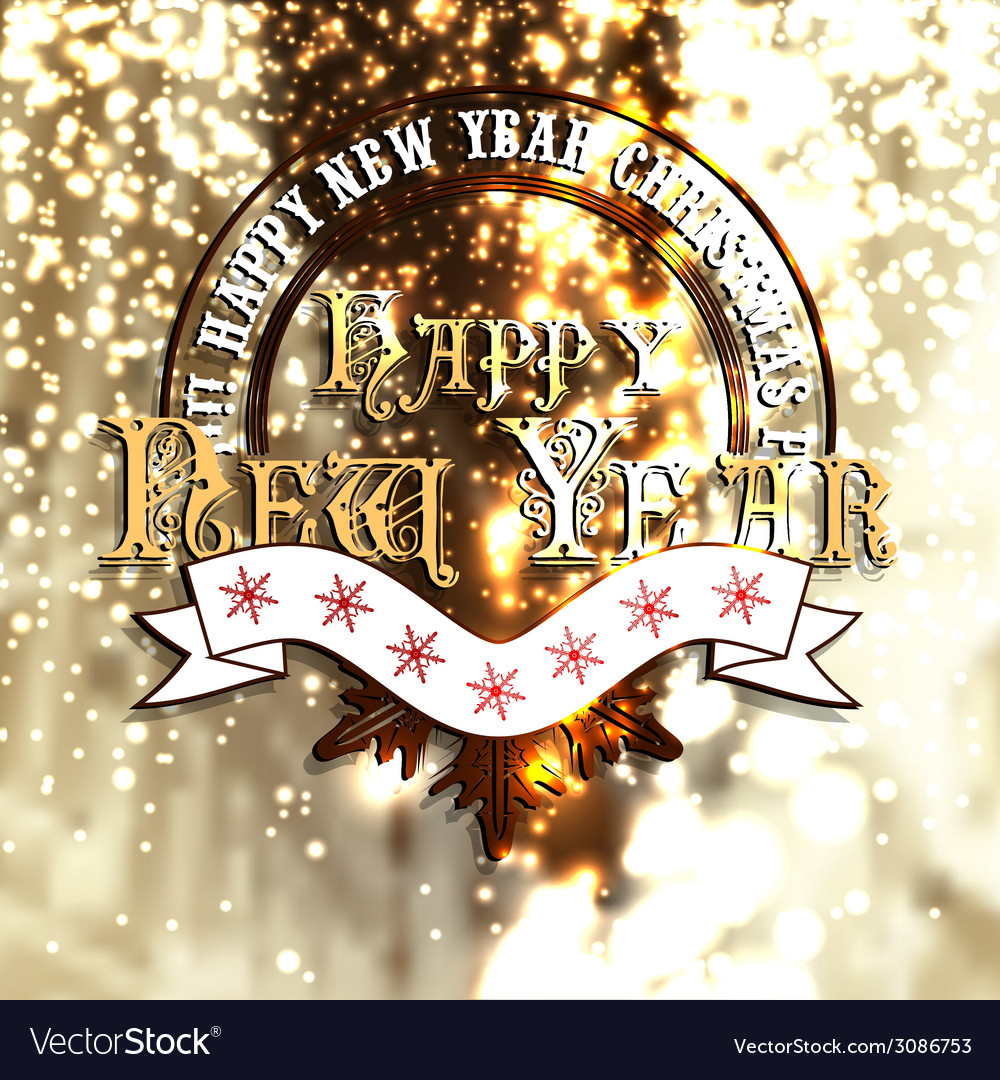 Griting new year card vector | Price: 1 Credit (USD $1)