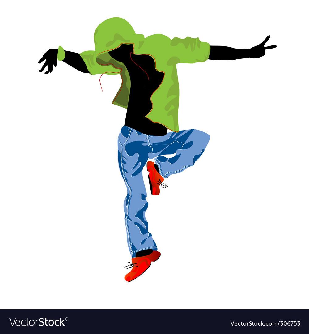 Groove dancer vector | Price: 1 Credit (USD $1)