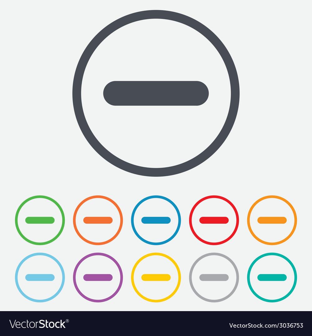 Minus sign icon negative symbol vector | Price: 1 Credit (USD $1)
