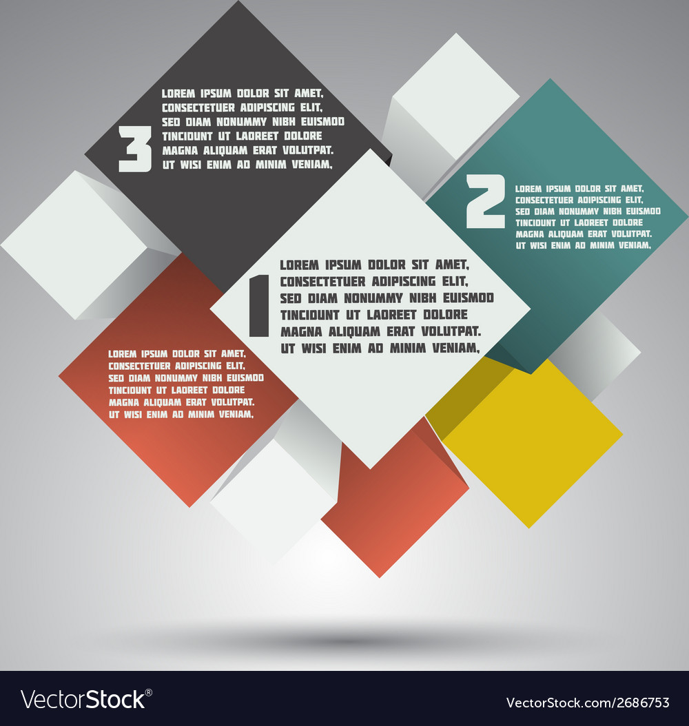 Modern colorful design business options banner vector   Price: 1 Credit (USD $1)