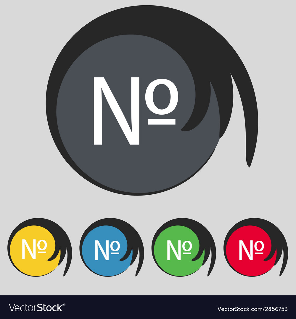 Number iconset flat modern web colour button vector   Price: 1 Credit (USD $1)