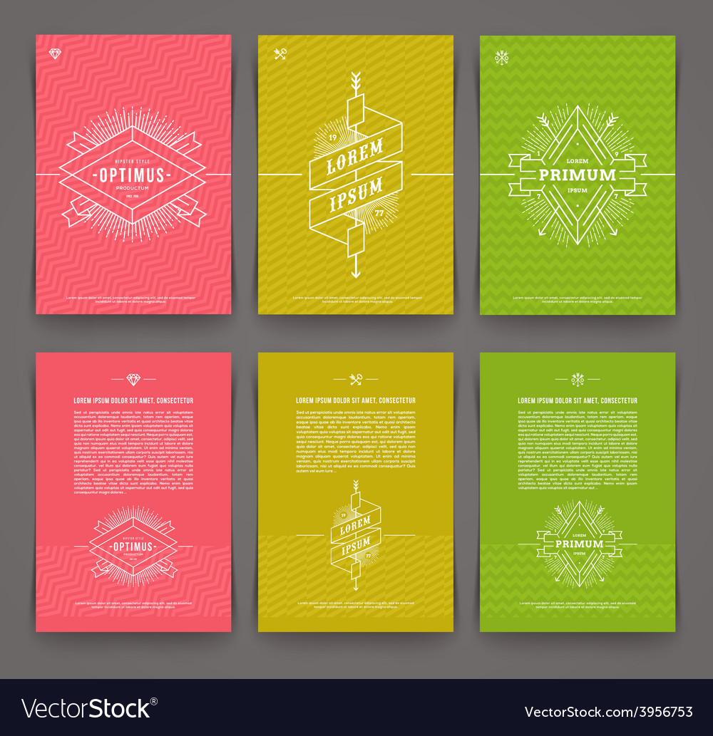 Set of abstract template flyer page design vector | Price: 1 Credit (USD $1)