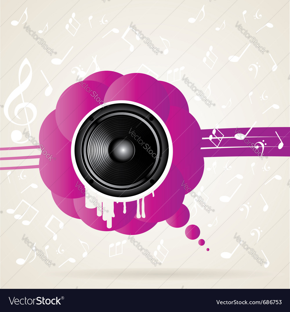 Speaker and splash vector | Price: 1 Credit (USD $1)