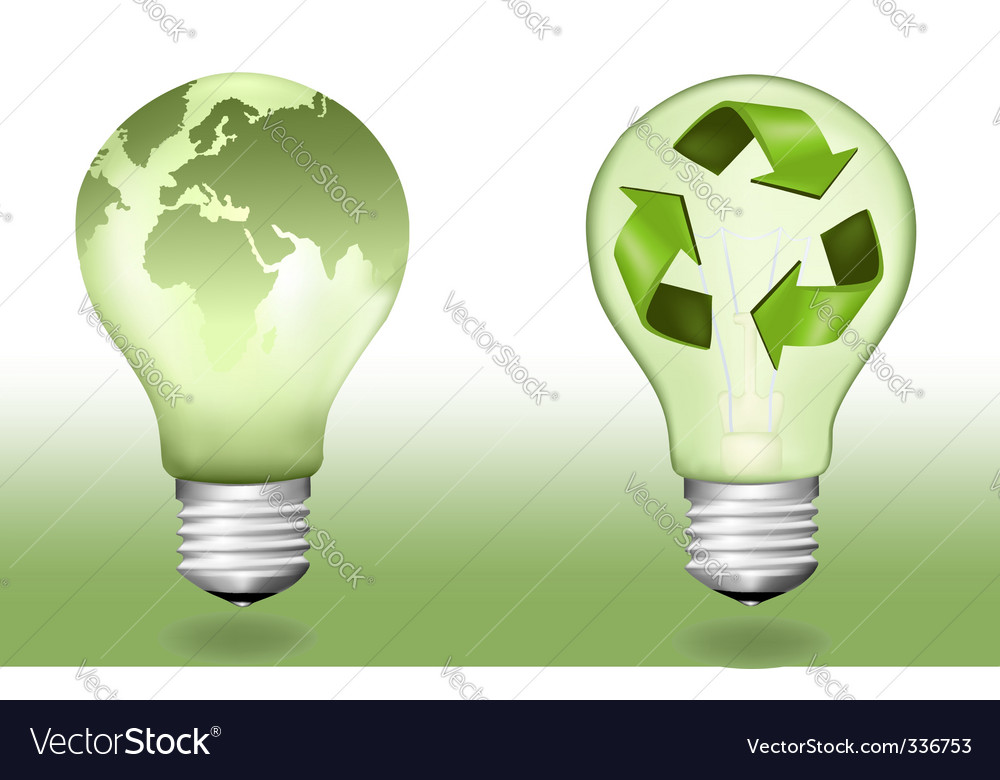 Two ecologic light bulbs vector | Price: 1 Credit (USD $1)