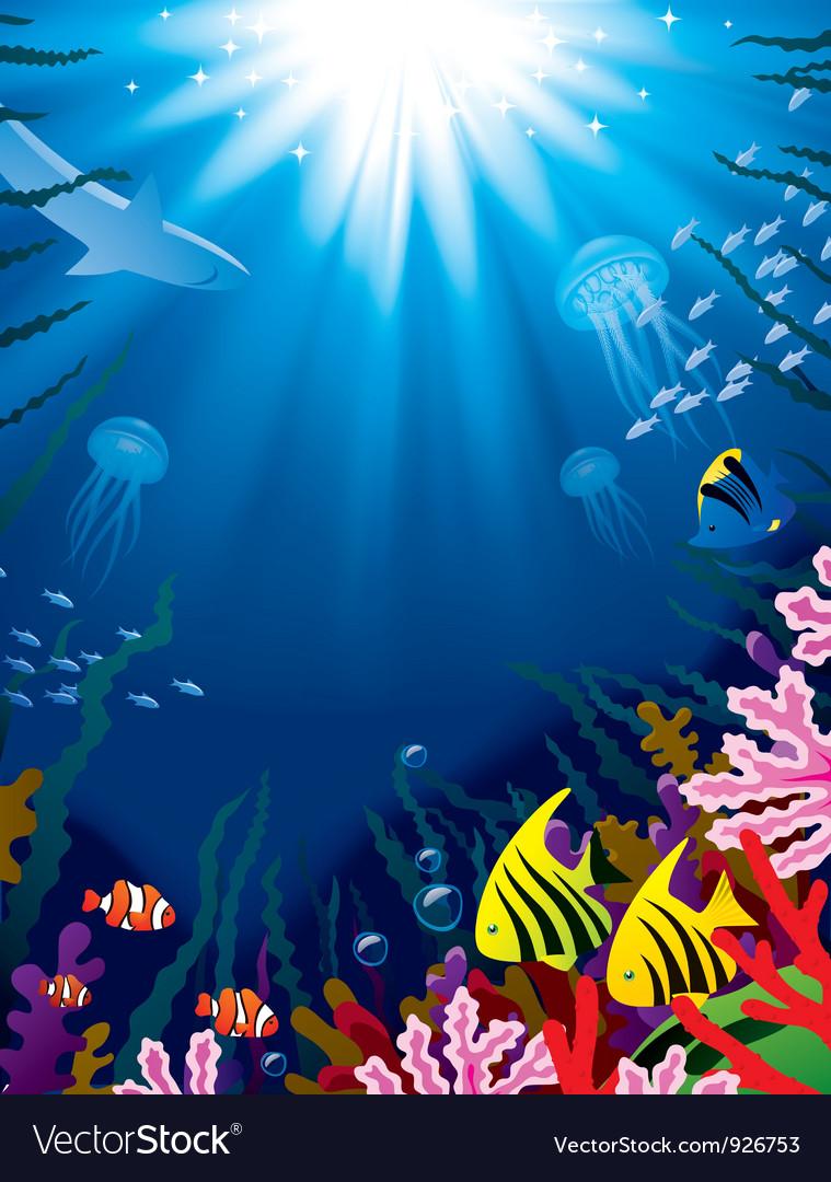 Underwater world vector | Price: 3 Credit (USD $3)