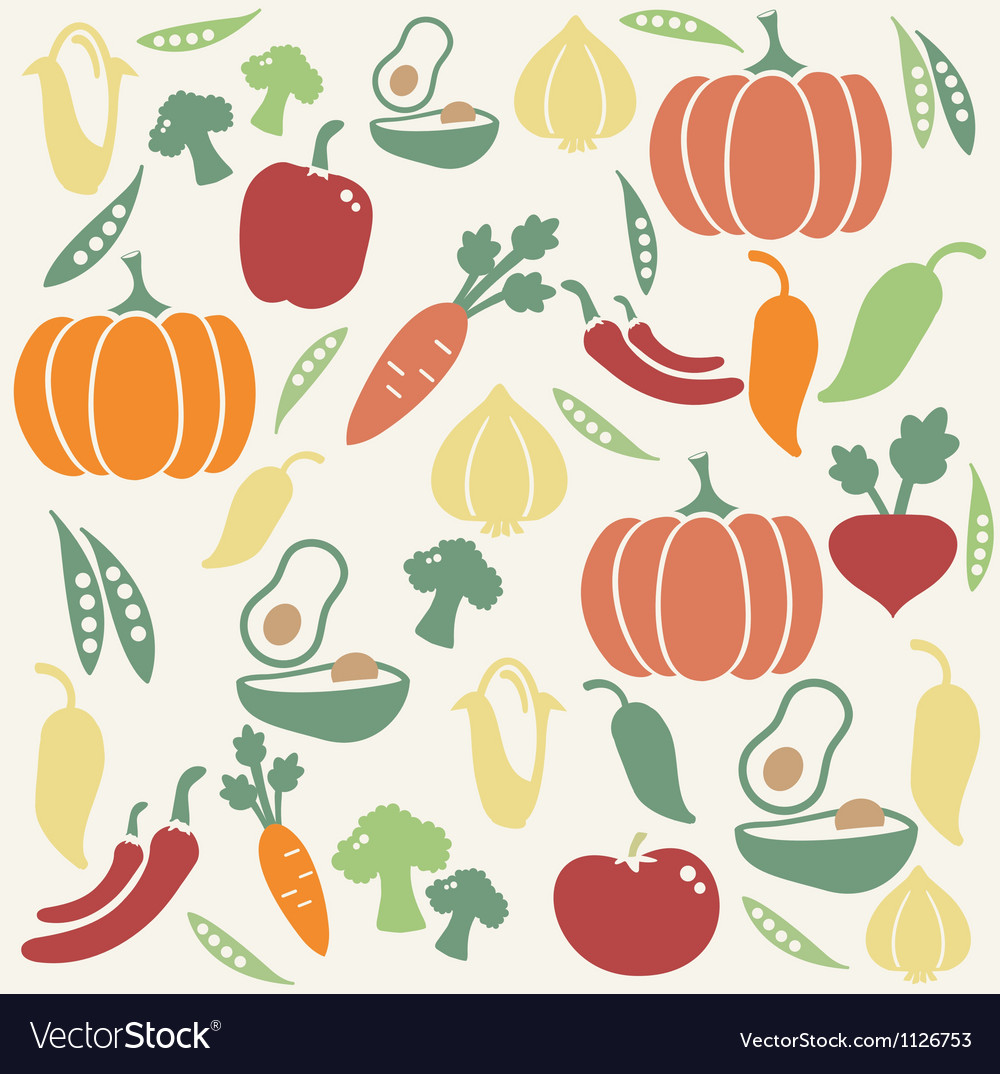 Vegetable pattern vector | Price: 1 Credit (USD $1)
