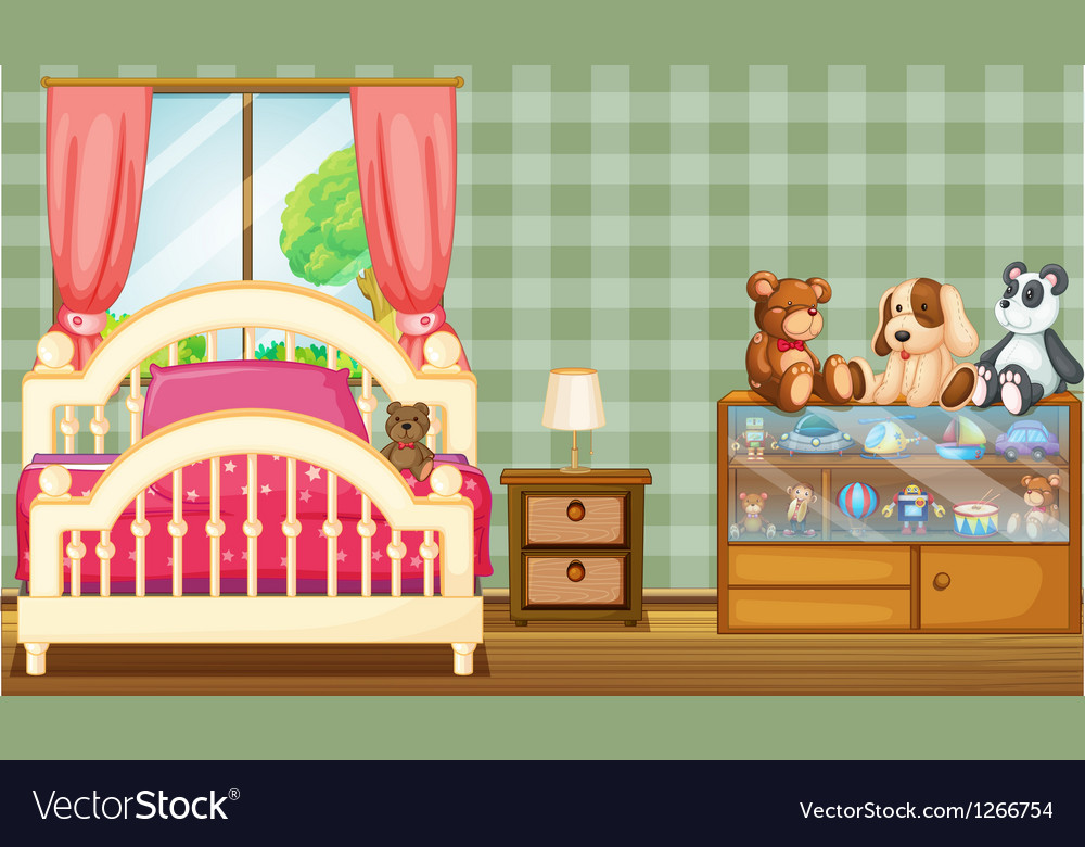 A clean bedroom with a lot of toys vector | Price: 1 Credit (USD $1)