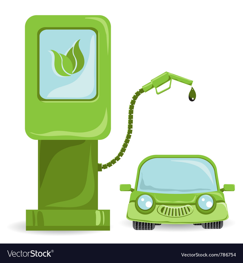 Bio fuel car on bio fuel vector | Price: 3 Credit (USD $3)