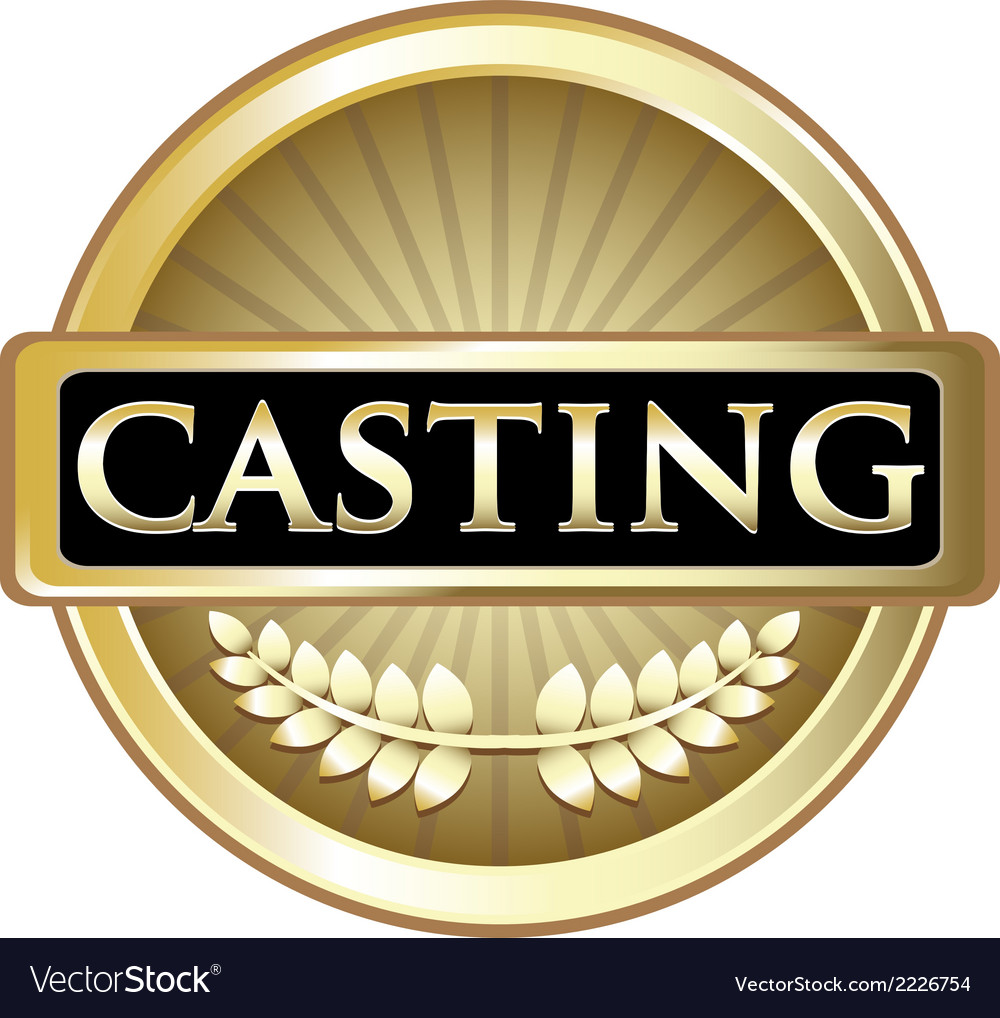 Casting gold label vector | Price: 1 Credit (USD $1)