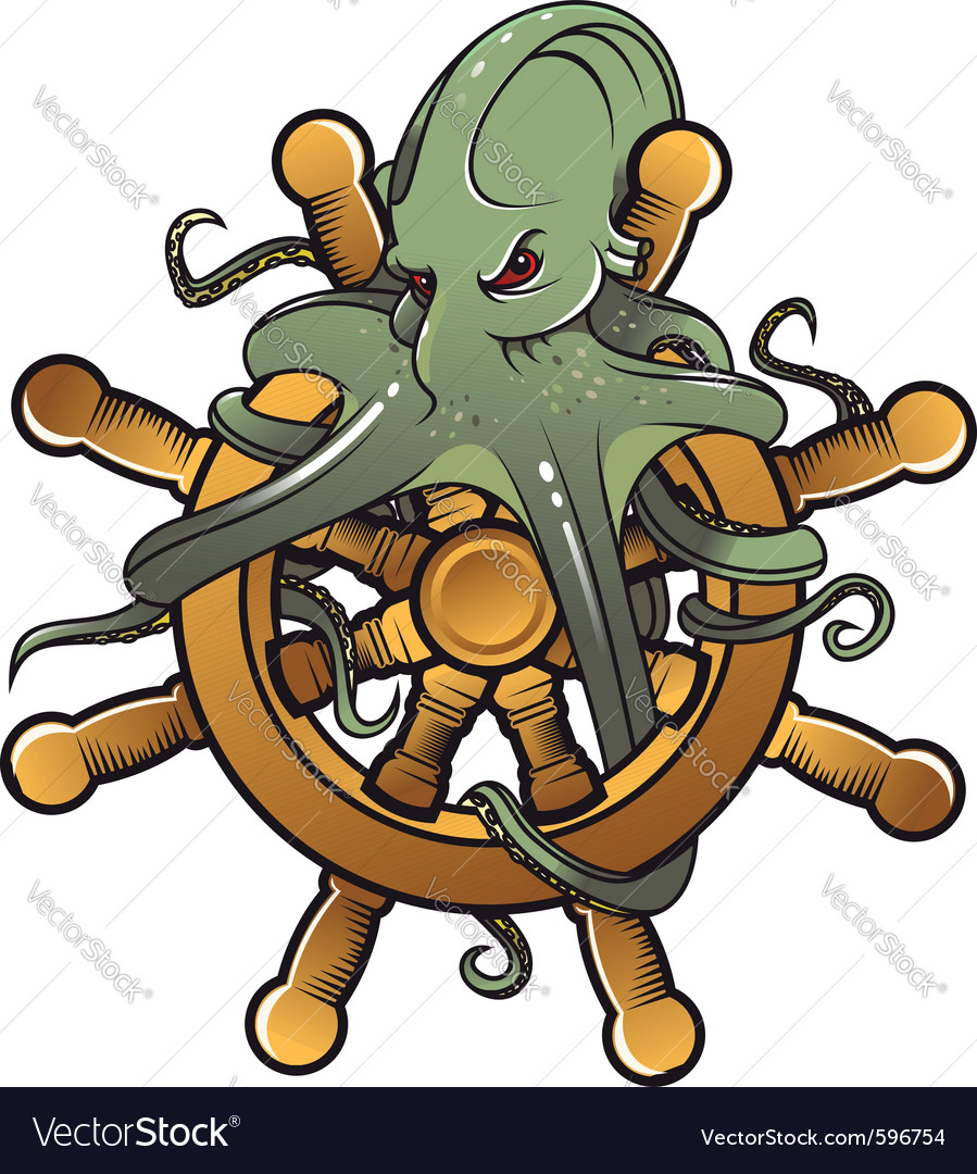 Danger octopus vector | Price: 3 Credit (USD $3)