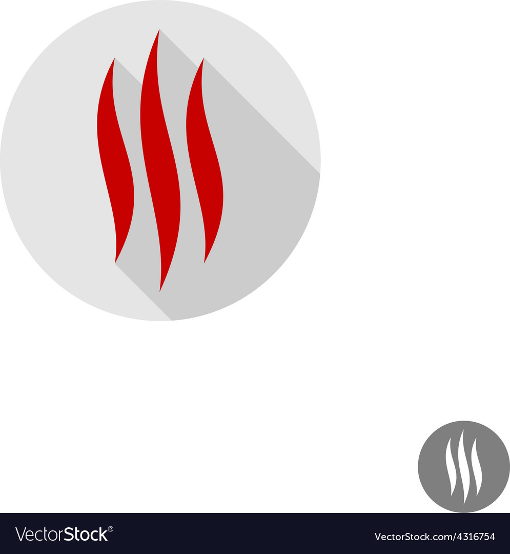Fire flames sign vector | Price: 1 Credit (USD $1)