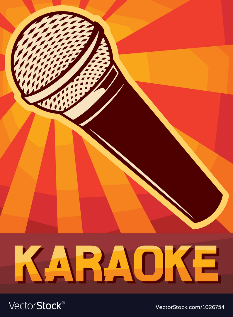 Karaoke poster vector | Price: 3 Credit (USD $3)